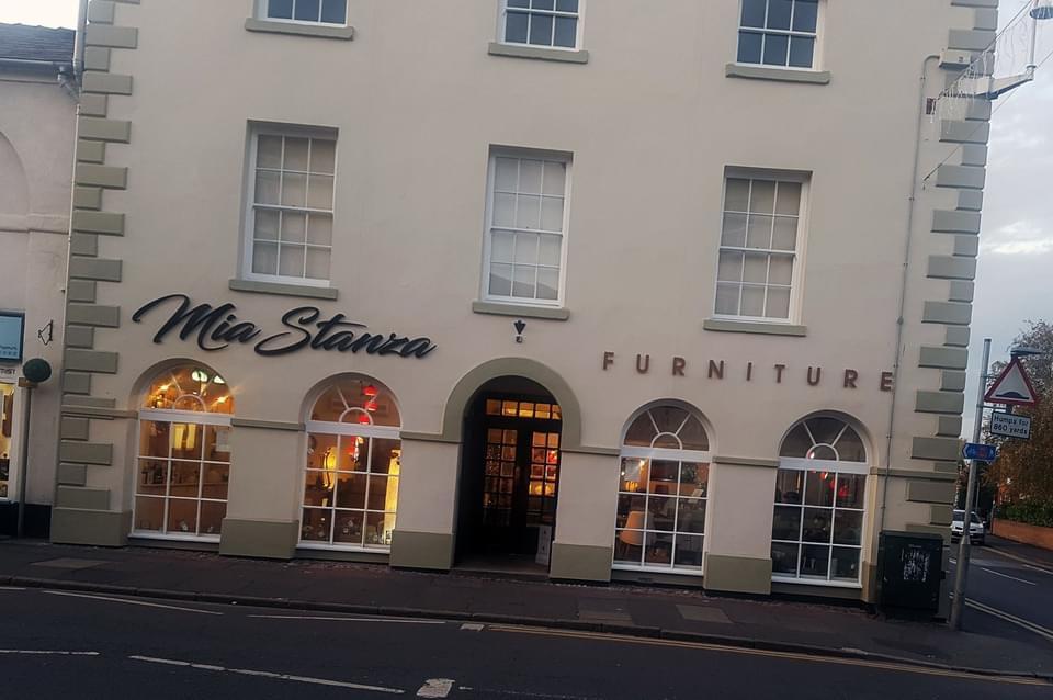 Mia Stanza Furniture Sign Shop Front