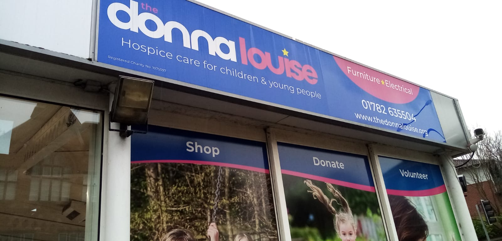 The Donna Louise Children's Hospice Shop Sign