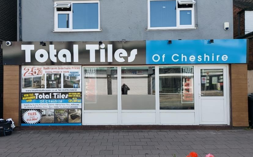 Total Tiles of Cheshire Sign